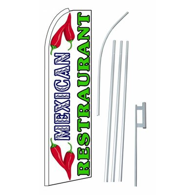 Mexican Restaurant Swooper Flag and Flagpole Set SW10275_4PL_SGS