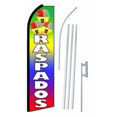 Raspados Swooper Flag and Flagpole Set SW10456_4PL_SGS