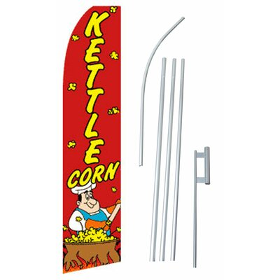 Kettle Corn Swooper Flag and Flagpole Set