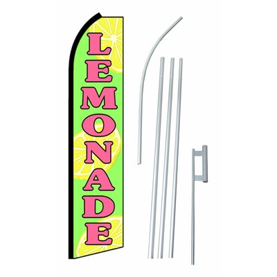 Lemonade Swooper Flag and Flagpole Set SW10581_4PL_SGS