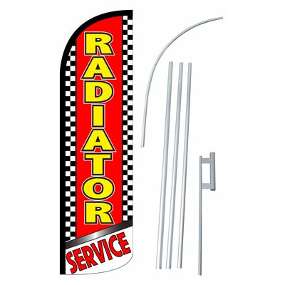 Radiator Service Swooper Flag and Flagpole Set SW10944_4SPD_SGS