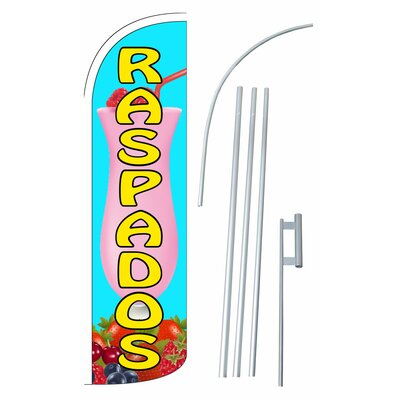 Raspados Swooper Flag and Flagpole Set SW11050_4SPD_SGS