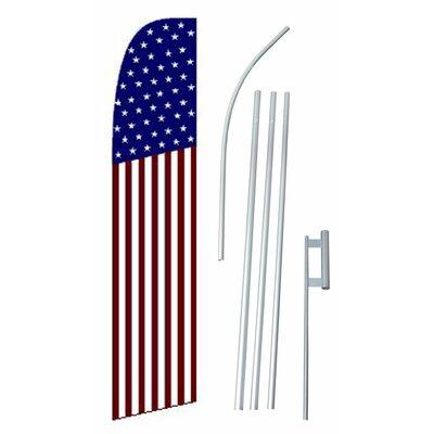 USA 50 Star Swooper Flag and Flagpole Set