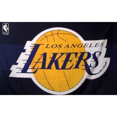Los Angeles Lakers Purple 3'X 5' Banner Flag F-1014
