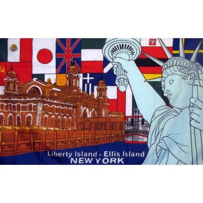 Liberty Island New York Flag F-1426