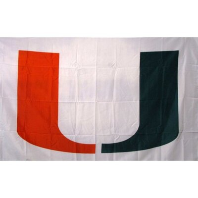 University of Miami Flag Color: White F-1806