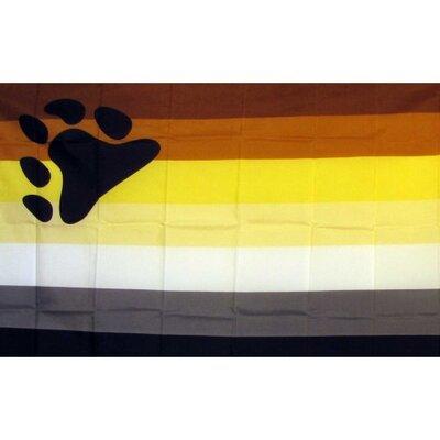 Rainbow Male Bear Pride Traditional Flag F-2057