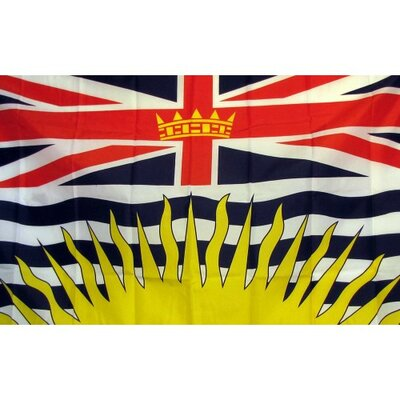 British Columbia Traditional Flag F-2078