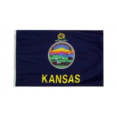 Kansas State 3x5 Banner Flag Made In The Usa F-2275