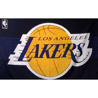Los Angeles Lakers Purple 3'X 5' Banner Flag F-1014