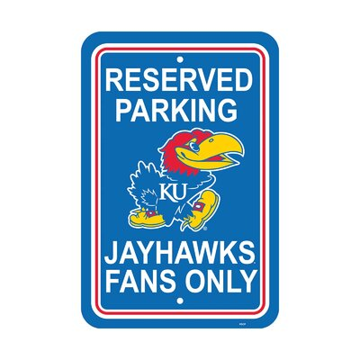NCAA Parking Sign NCAA: Kansas Jayhawks