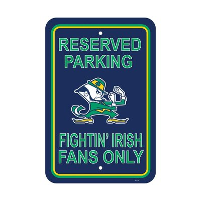 NCAA Parking Sign NCAA: Notre Dame
