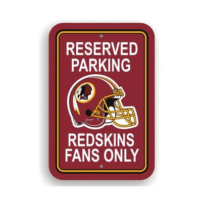 NFL Parking Sign NFL: Washington Redskins