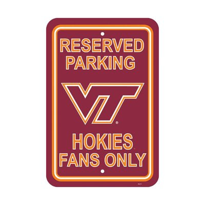 NCAA Parking Sign NCAA: Virginia Tech Hokies
