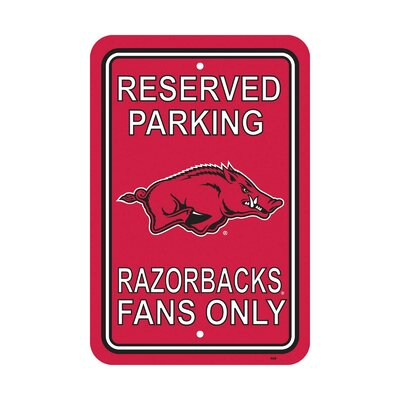 NCAA Parking Sign NCAA: Arkansas Razorbacks