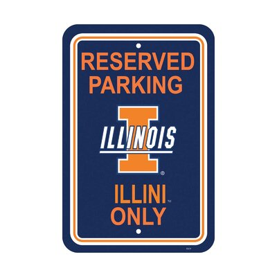 NCAA Parking Sign NCAA: Illinois Fighting Illini