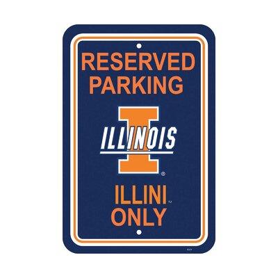 NCAA Parking Sign NCAA: Illinois Fighting Illini