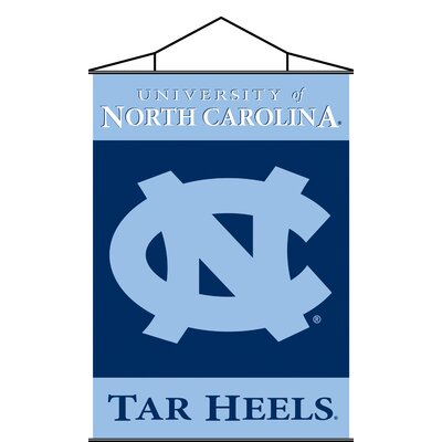 NCAA 2-Sided Scroll Banner NCAA: North Carolina Tar Heels K87008=