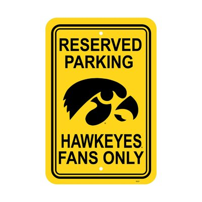 NCAA Parking Sign NCAA: Iowa Hawkeyes