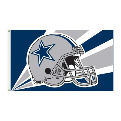 NFL 2-Sided Traditional Flag NFL: Dallas Cowboys Helmet K94203B=