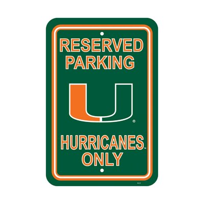 NCAA Parking Sign NCAA: Miami Hurricanes