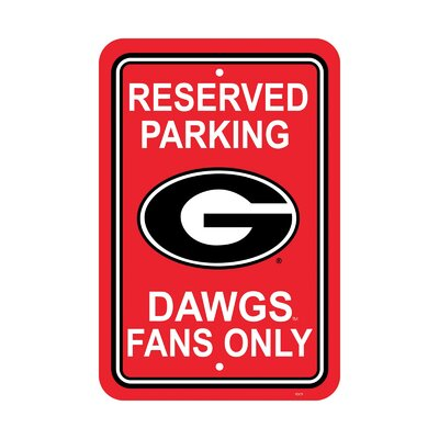 NCAA Parking Sign NCAA: Georgia Bulldogs