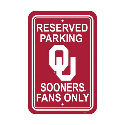 NCAA Parking Sign NCAA: Oklahoma Sooners
