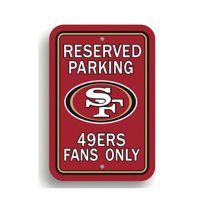 NFL Parking Sign NFL: San Francisco 49ers