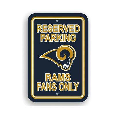 NFL Parking Sign NFL: St. Louis Rams