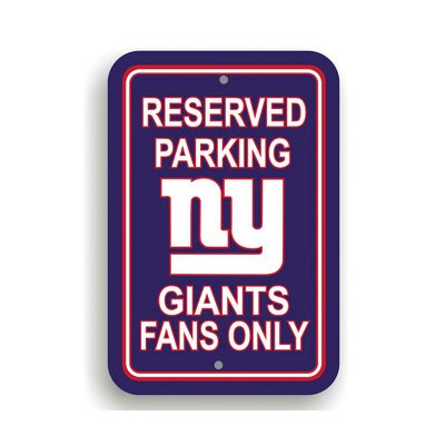 NFL Parking Sign NFL: New York Giants