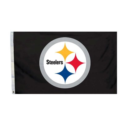 NFL 2-Sided Traditional Flag NFL: Pittsburgh Steelers K94913B=