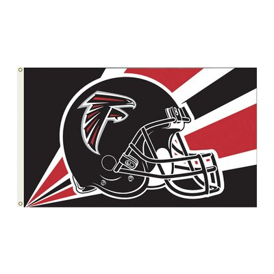NFL 2-Sided Traditional Flag NFL: Atlanta Falcons Helmet K94220B=
