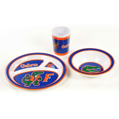 NCAA Melamine 3 Piece Place Setting, Service for 1 NCAA: Florida Gators K31109=