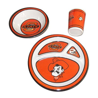 NCAA Melamine 3 Piece Place Setting, Service for 1 NCAA: Oklahoma State Cowboys K31147=