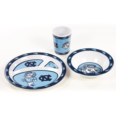 NCAA 3 Piece Melamine Dish Set NCAA: North Carolina Tar Heels K31108=