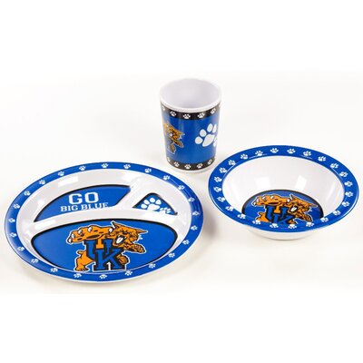 NCAA Melamine 3 Piece Place Setting, Service for 1 NCAA: Kentucky Wildcats K31110=