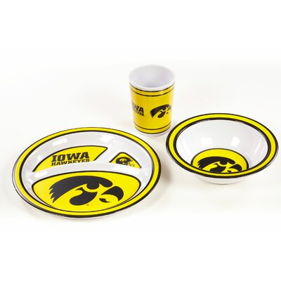NCAA 3 Piece Melamine Dish Set NCAA: Iowa Hawkeyes K31124=