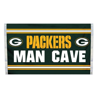 NFL Man Cave Polyester 3 x 5 ft. Banner NFL Team: Green Bay Packers K95516B=