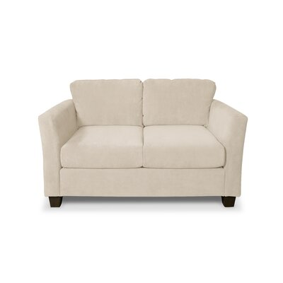 Edward Loveseat Upholstery: Two Tone Bisque