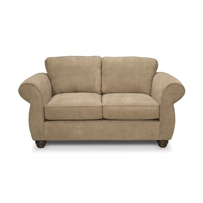 Gregory Loveseat Upholstery: Two Tone Pecan