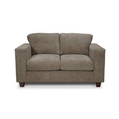 Henry Loveseat Upholstery: Two Tone Charcoal