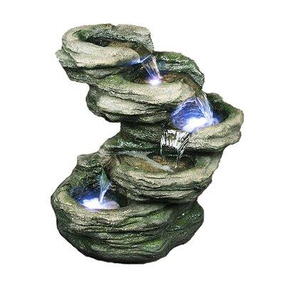 Fiber and Resin Rocks Fountain