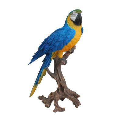 Macaw Statue Color: Blue/Yellow 87776-B