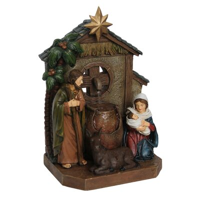 Nativity Scene with Star Table Top Fountain Figurine 81895-B
