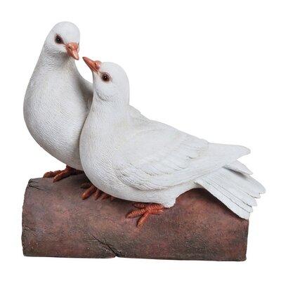 Doves on a Log Figurine 87987