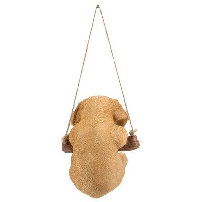 Hanging Golden Retriever Puppy Statue 87704-I