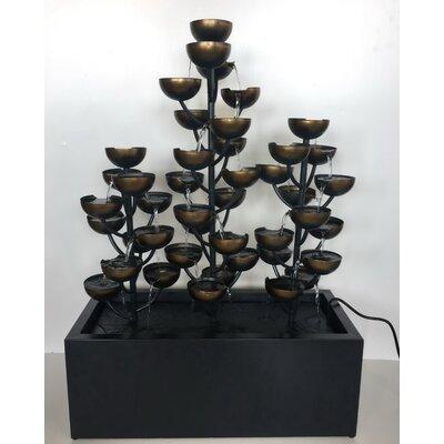 Zinc Metal Multi Level Cups Fountain 79530-C