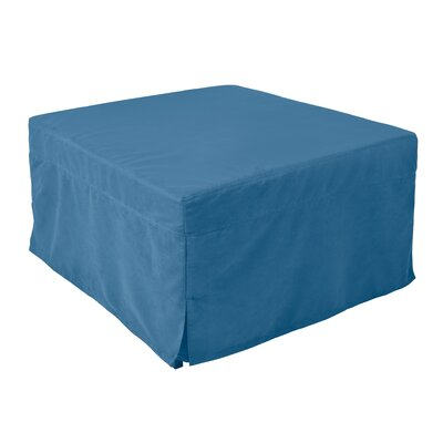 Sleeper Ottoman Upholstery Material: Microfiber, Color: Denim