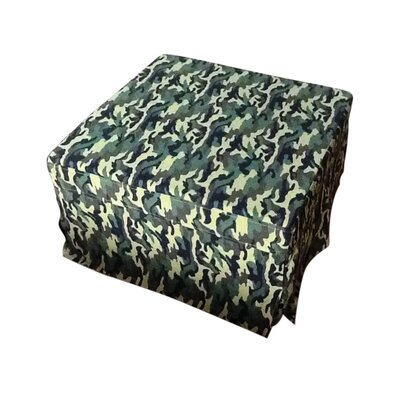 Ottoman Upholstery: Green Camouflage