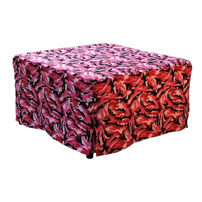 Ottoman Upholstery: Pink Camouflage
